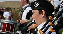 Joining the Pipe Band