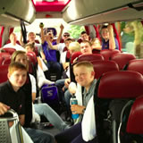 The band on route to France