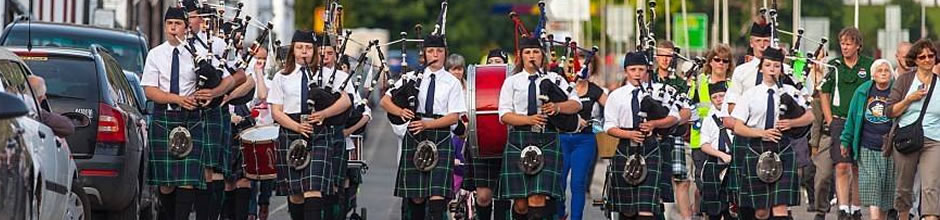 Ullapool and District Pipe Band on Shore Street